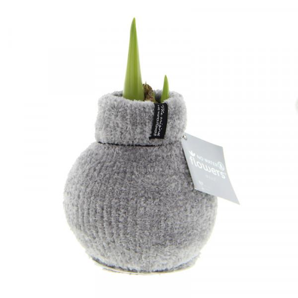 Wax Amaryllis Fashionz Cozy Fluffy Gris